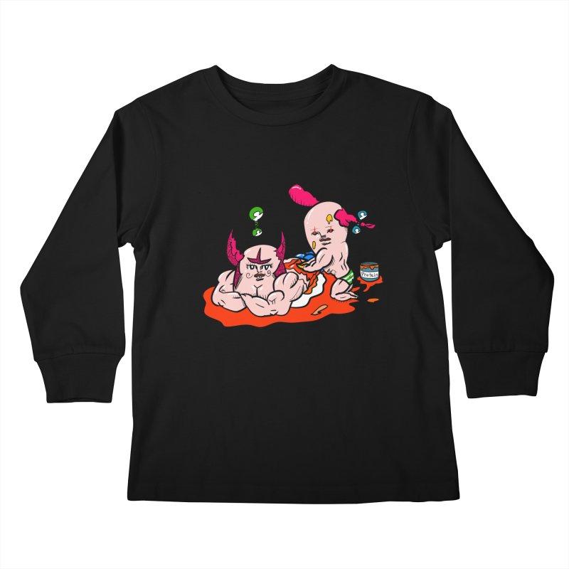 MuscleCaste 1 Kids Longsleeve T-Shirt by kato5's Shop