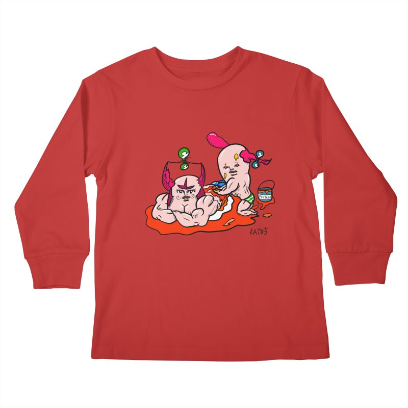 MuscleCaste 1 Kids Longsleeve T-Shirt by kato5's Shop