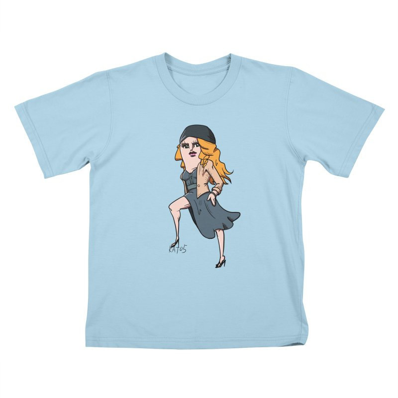 kato5sLady 2 Kids T-Shirt by kato5's Shop