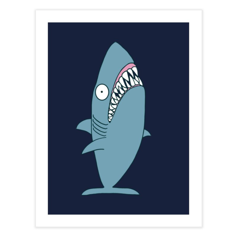 The Mighty Great White Shark Home Fine Art Print by KAUFYSHOP