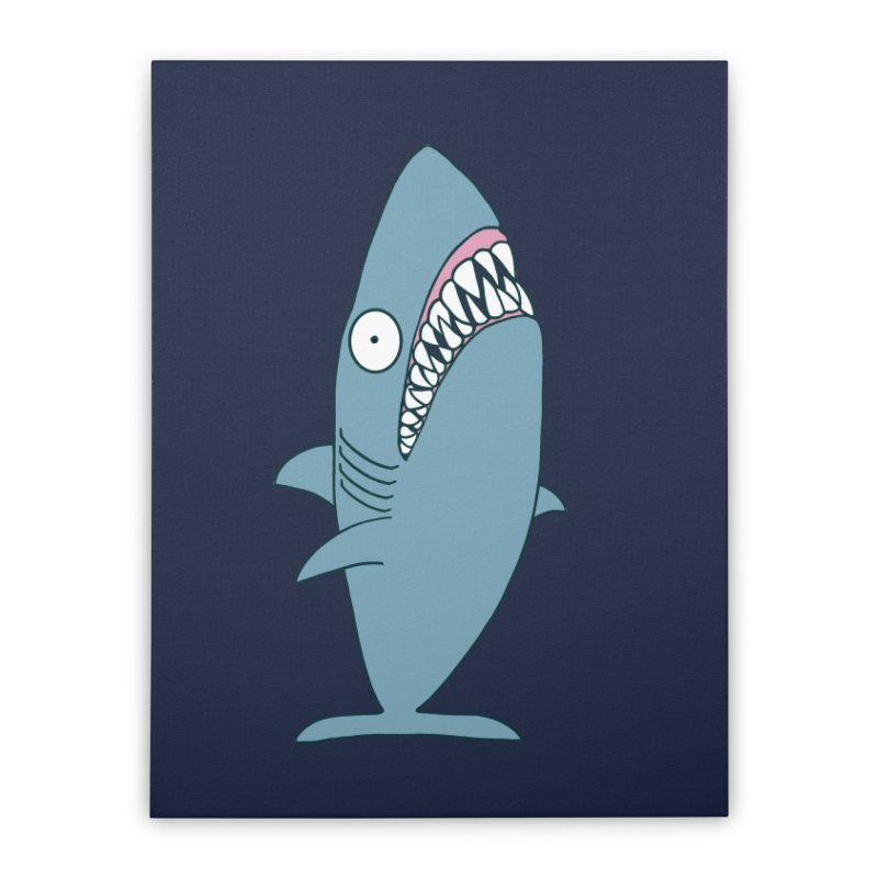 The Mighty Great White Shark Home Stretched Canvas by KAUFYSHOP