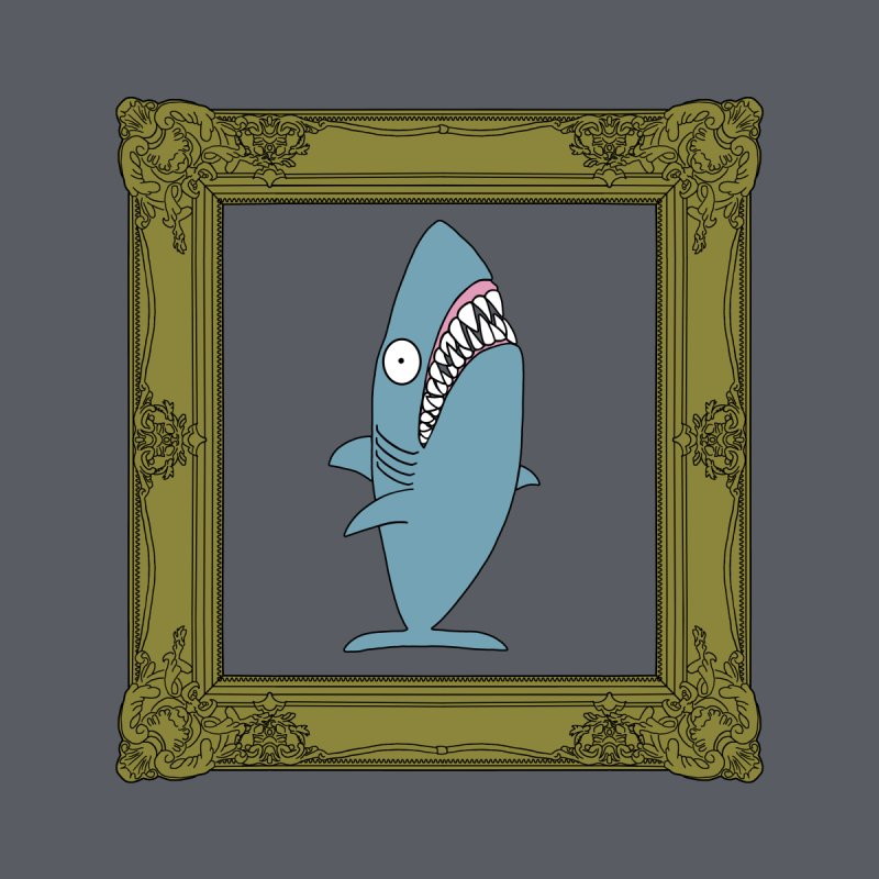 Portrait of a Great White Shark. Home Framed Fine Art Print by KAUFYSHOP