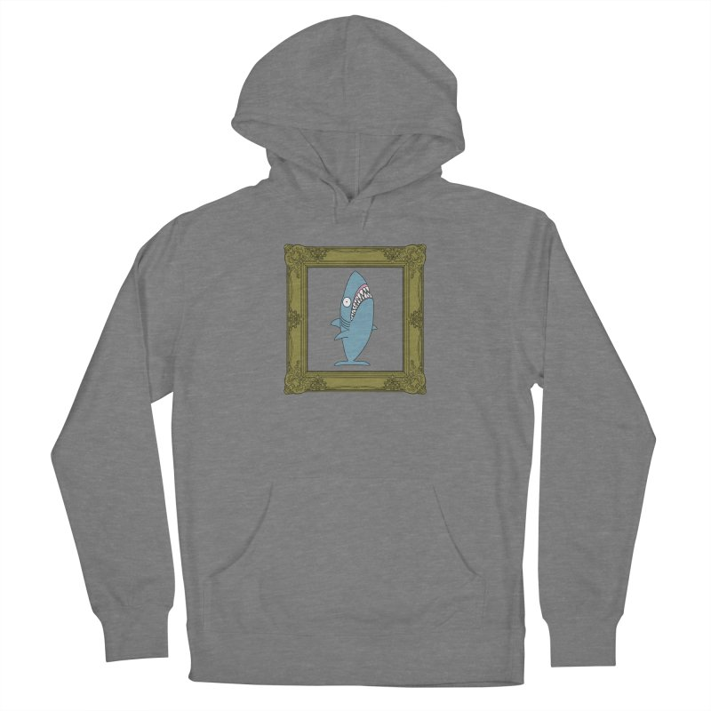 Portrait of a Great White Shark. Women's Pullover Hoody by KAUFYSHOP