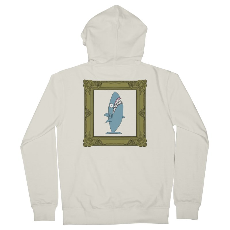 Portrait of a Great White Shark. Women's Zip-Up Hoody by KAUFYSHOP