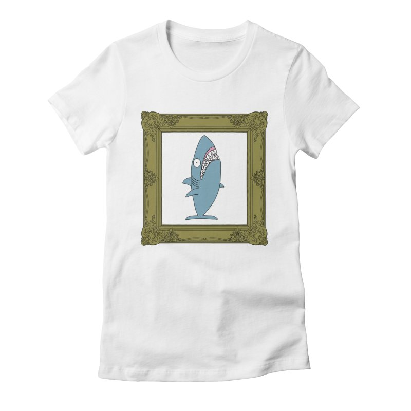 Portrait of a Great White Shark. Women's T-Shirt by KAUFYSHOP