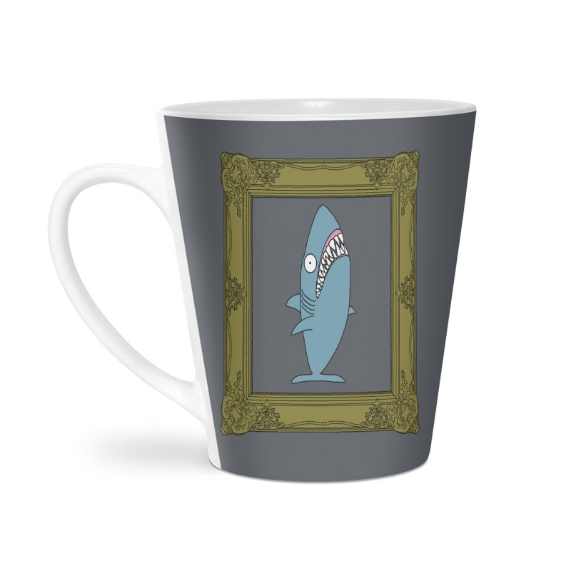 Portrait of a Great White Shark. Accessories Mug by KAUFYSHOP
