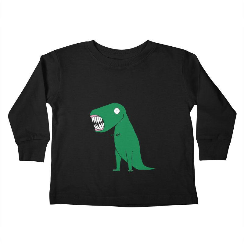 The Terrible Tyrannosaurus Rex Kids Toddler Longsleeve T-Shirt by KAUFYSHOP