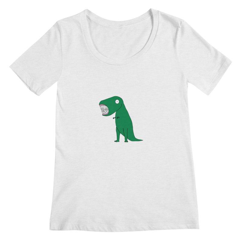 The Terrible Tyrannosaurus Rex Women's Regular Scoop Neck by KAUFYSHOP