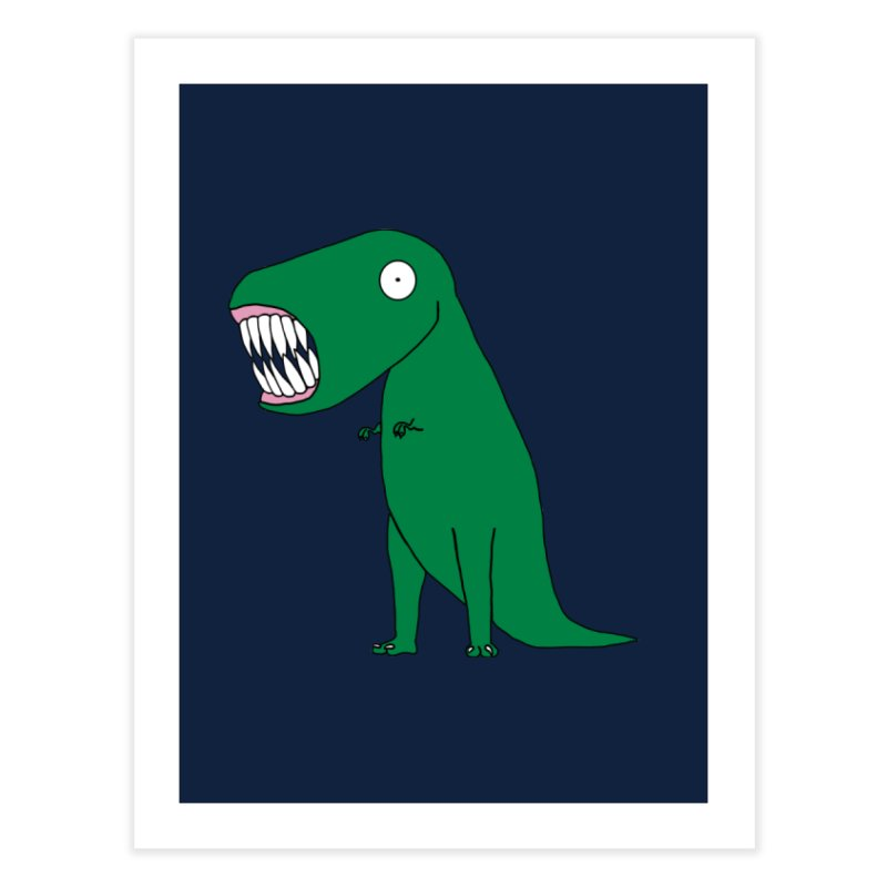 The Terrible Tyrannosaurus Rex Home Fine Art Print by KAUFYSHOP