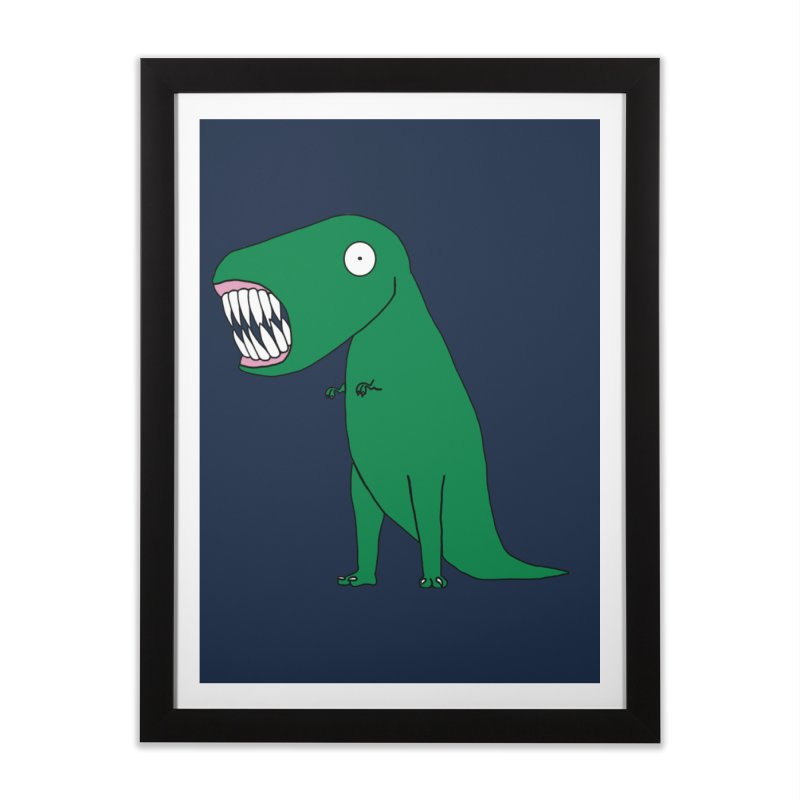 The Terrible Tyrannosaurus Rex Home Framed Fine Art Print by KAUFYSHOP