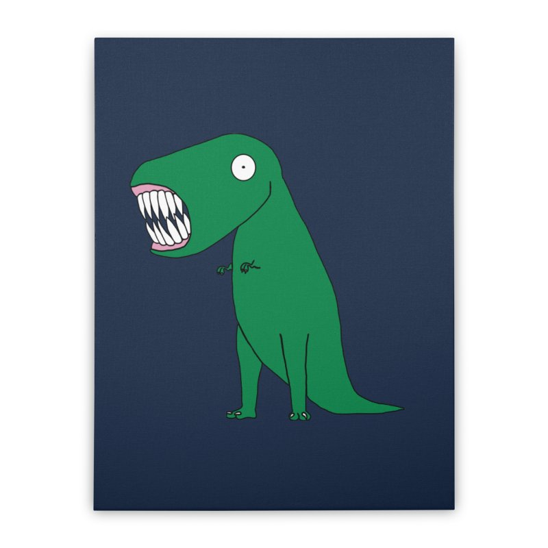 The Terrible Tyrannosaurus Rex Home Stretched Canvas by KAUFYSHOP