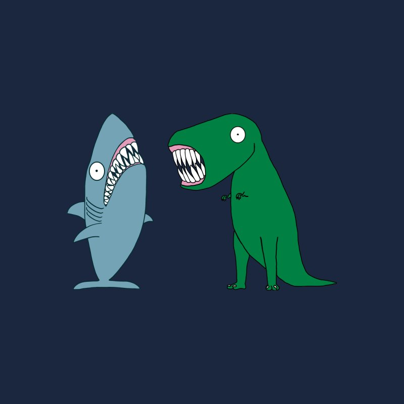 The Mighty Great White Shark and The Terrible Tyrannosaurus Rex Kids Pullover Hoody by KAUFYSHOP