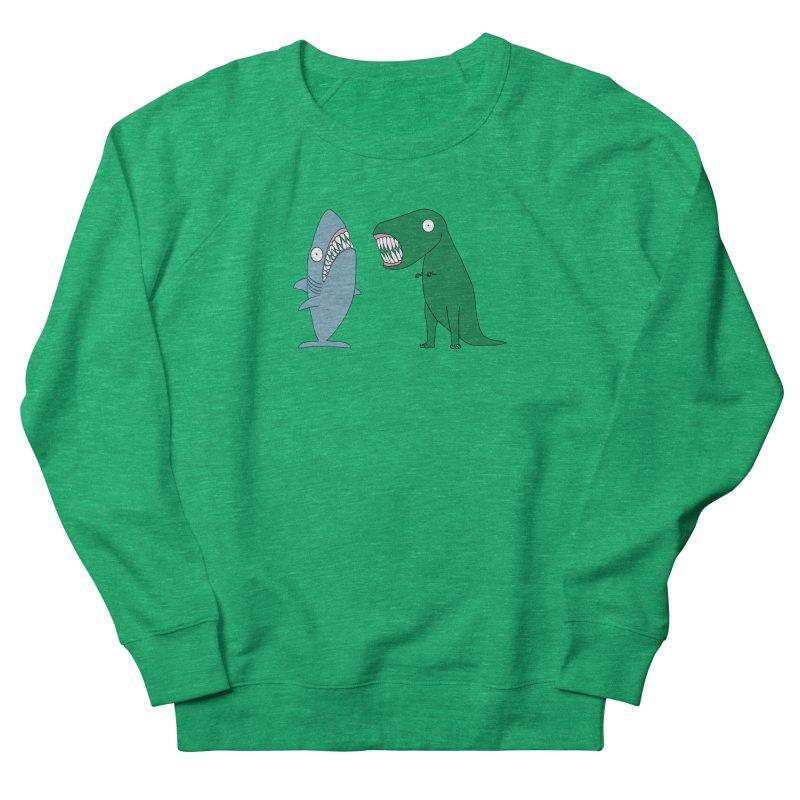 The Mighty Great White Shark and The Terrible Tyrannosaurus Rex Women's Sweatshirt by KAUFYSHOP