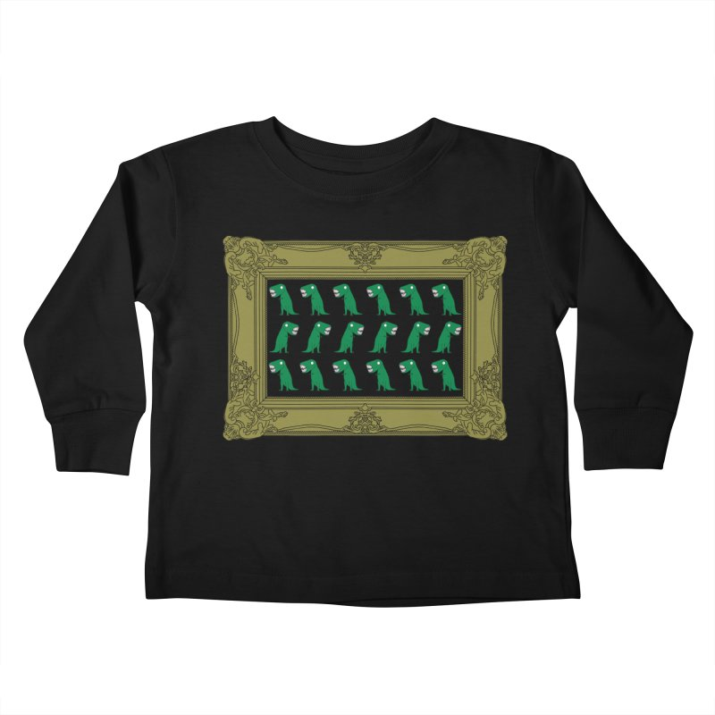 Dancing T Rex Kids Toddler Longsleeve T-Shirt by KAUFYSHOP