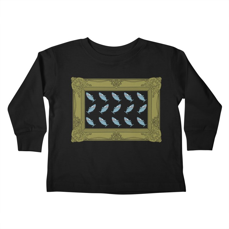 Portraits of Great White Sharks Kids Toddler Longsleeve T-Shirt by KAUFYSHOP