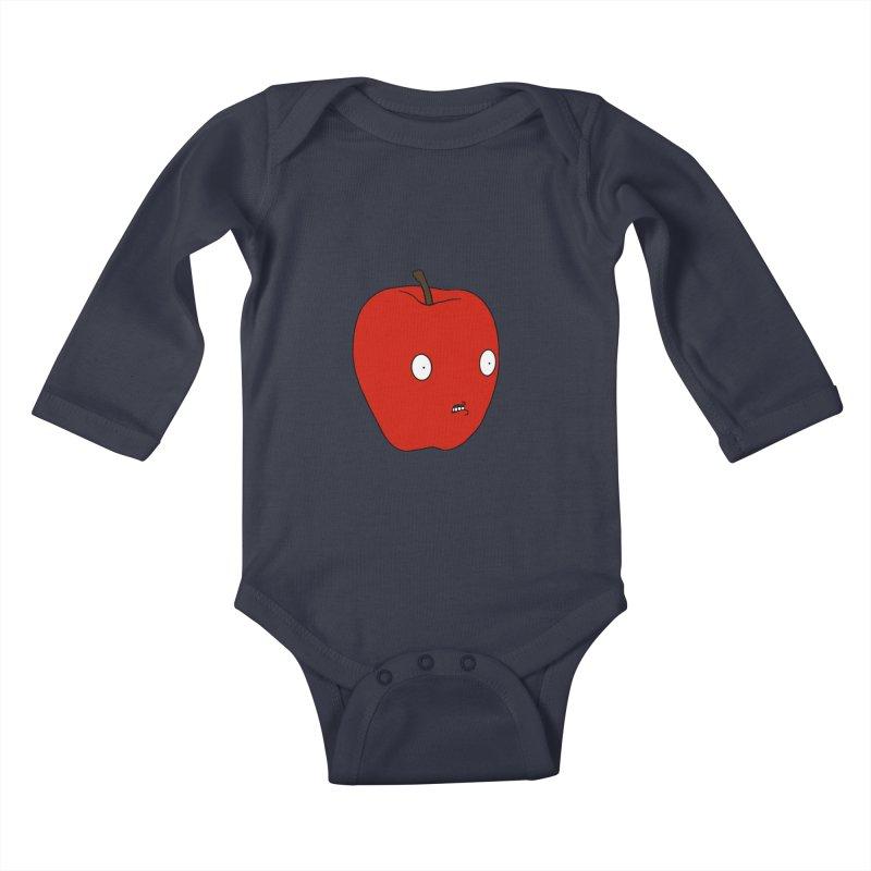 Apple Kids Baby Longsleeve Bodysuit by KAUFYSHOP