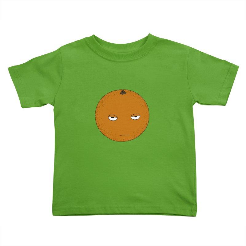 Orange Kids Toddler T-Shirt by KAUFYSHOP