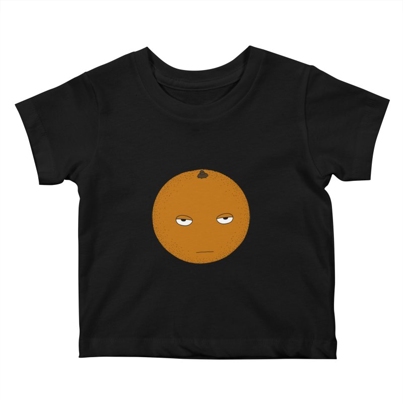 Orange Kids Baby T-Shirt by KAUFYSHOP
