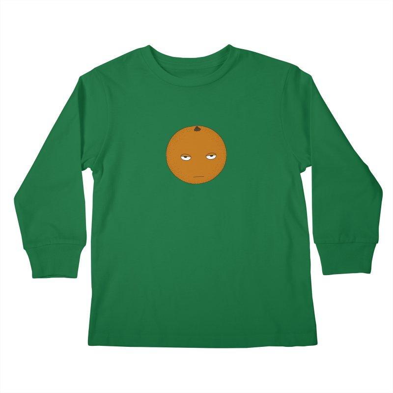 Orange Kids Longsleeve T-Shirt by KAUFYSHOP