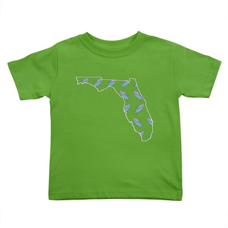 Florida Sharks Kids Toddler T-Shirt by KAUFYSHOP