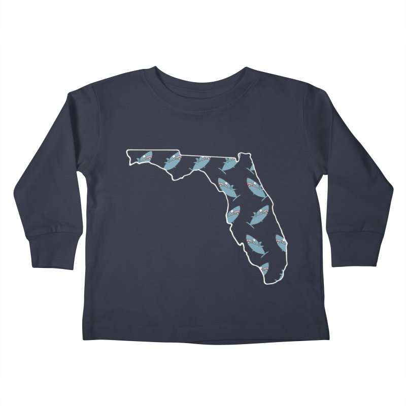 Florida Sharks Kids Toddler Longsleeve T-Shirt by KAUFYSHOP