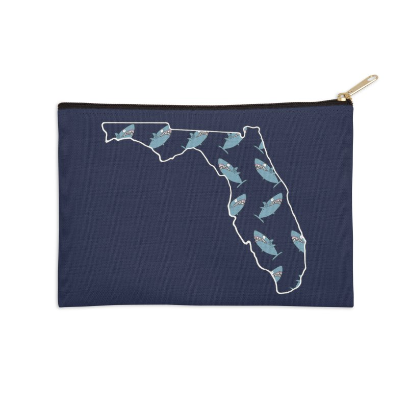 Florida Sharks Accessories Zip Pouch by KAUFYSHOP