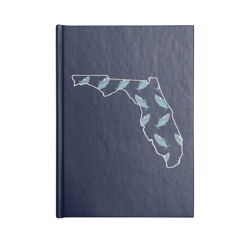 Florida Sharks Accessories Blank Journal Notebook by KAUFYSHOP
