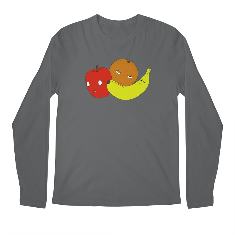 Apple Orange Banana Men's Regular Longsleeve T-Shirt by KAUFYSHOP