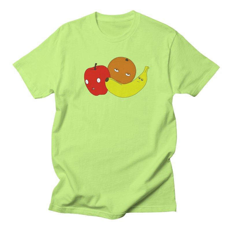 Apple Orange Banana Men's Regular T-Shirt by KAUFYSHOP