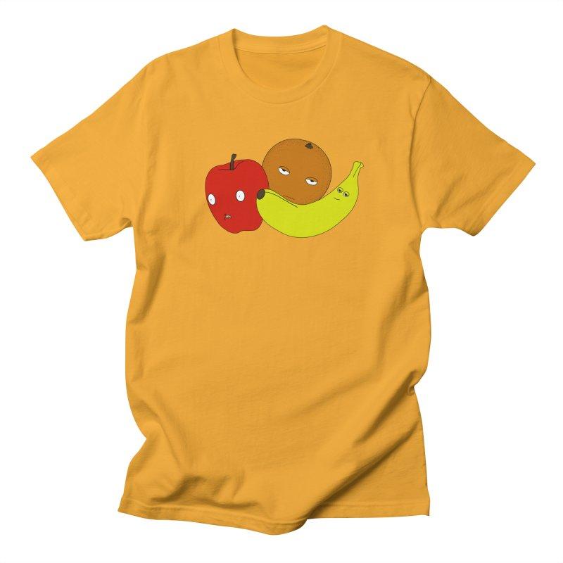 Apple Orange Banana Women's Regular Unisex T-Shirt by KAUFYSHOP