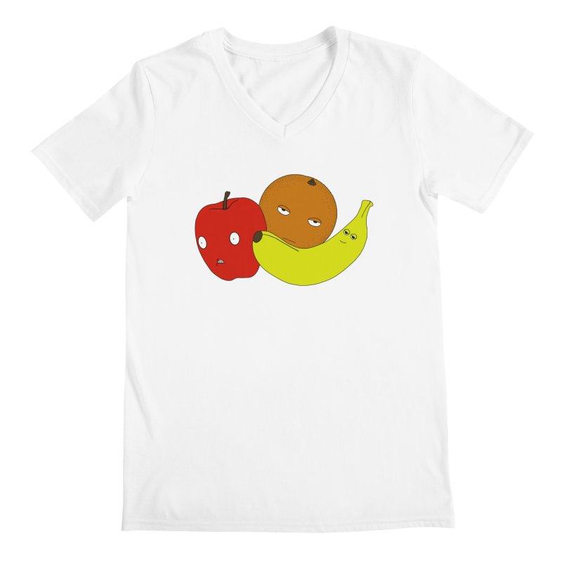 Apple Orange Banana Men's V-Neck by KAUFYSHOP