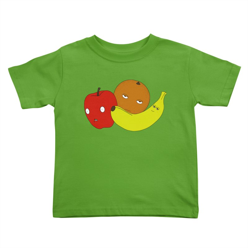 Apple Orange Banana Kids Toddler T-Shirt by KAUFYSHOP