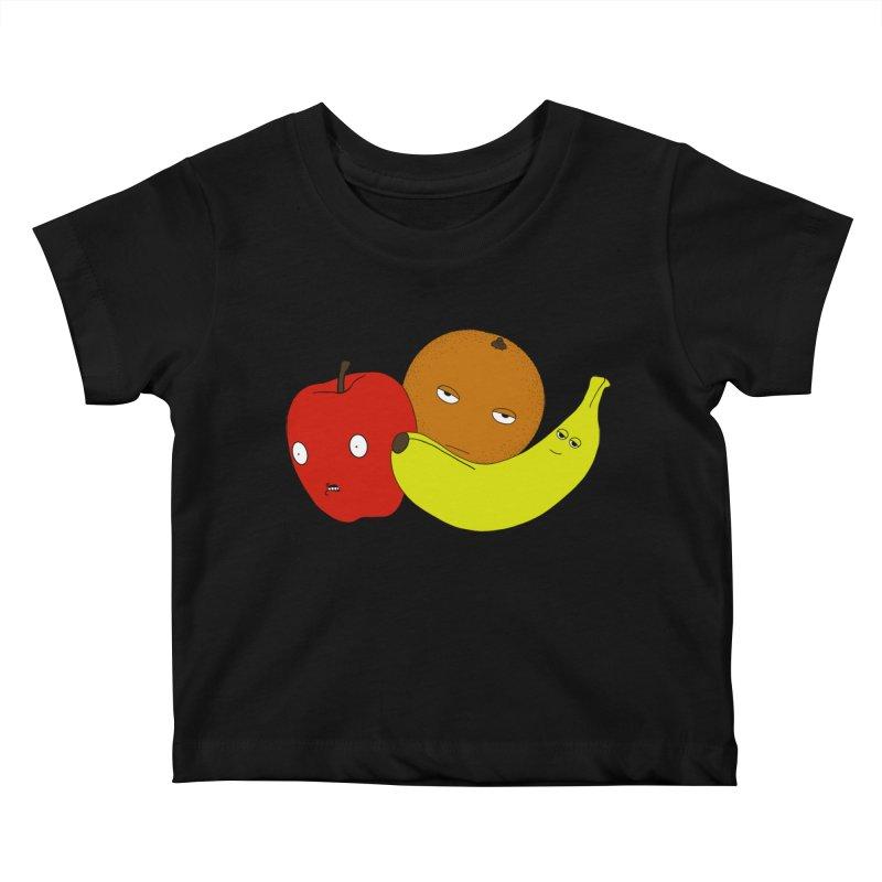 Apple Orange Banana Kids Baby T-Shirt by KAUFYSHOP