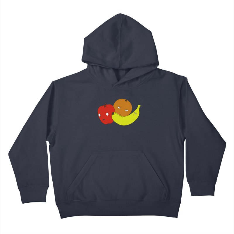 Apple Orange Banana Kids Pullover Hoody by KAUFYSHOP
