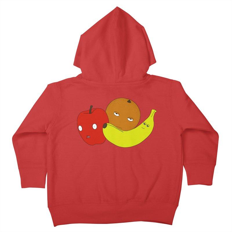 Apple Orange Banana Kids Toddler Zip-Up Hoody by KAUFYSHOP
