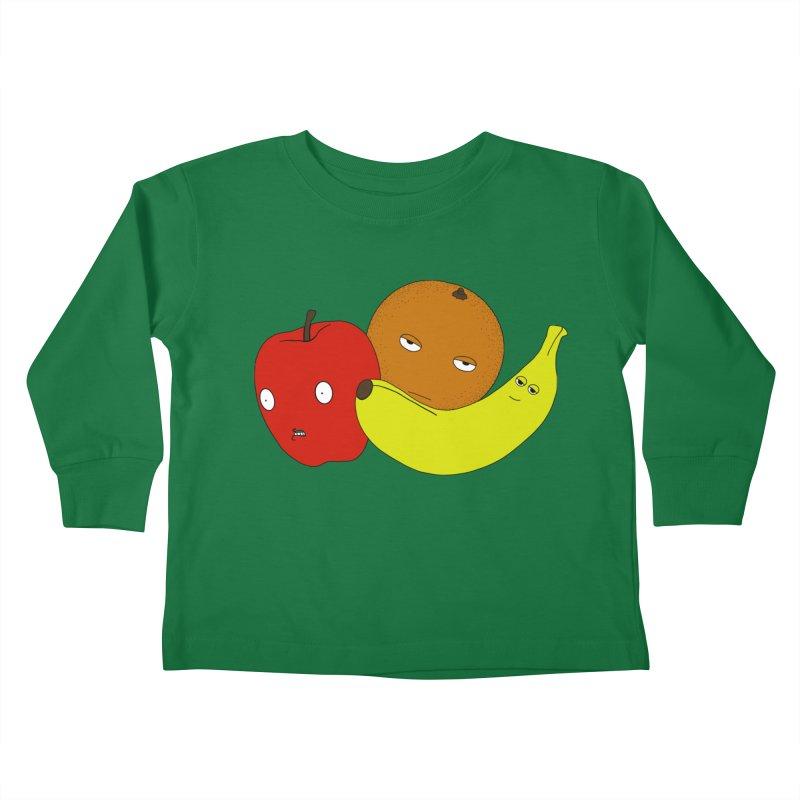 Apple Orange Banana Kids Toddler Longsleeve T-Shirt by KAUFYSHOP