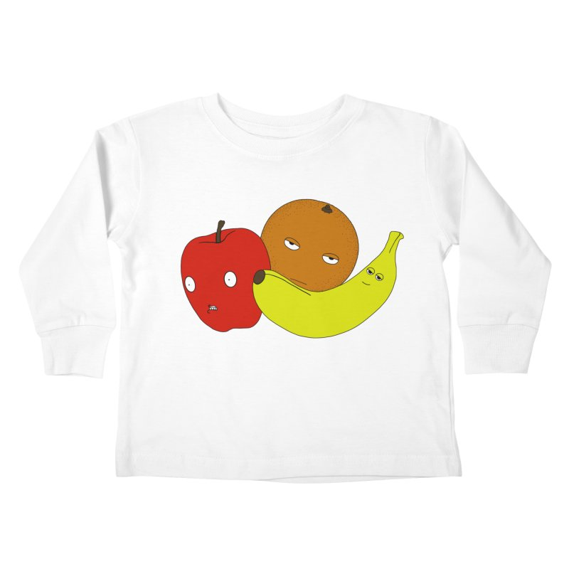 Apple Orange Banana Kids Toddler Longsleeve T-Shirt by KAUFYSHOP
