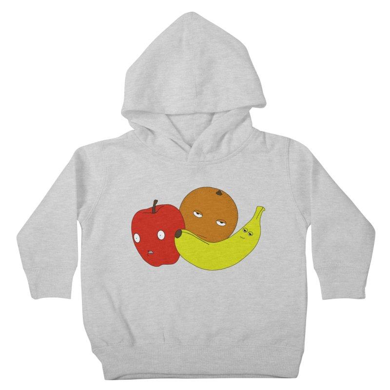 Apple Orange Banana Kids Toddler Pullover Hoody by KAUFYSHOP