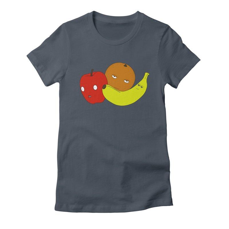 Apple Orange Banana Women's T-Shirt by KAUFYSHOP