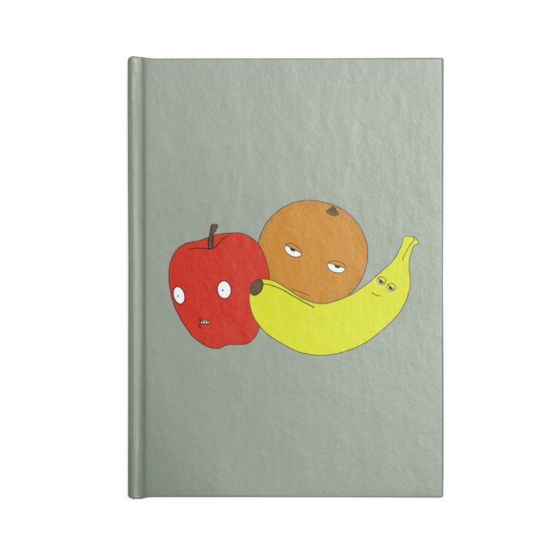 Apple Orange Banana Accessories Blank Journal Notebook by KAUFYSHOP
