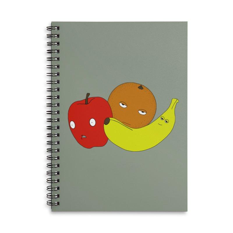 Apple Orange Banana Accessories Notebook by KAUFYSHOP