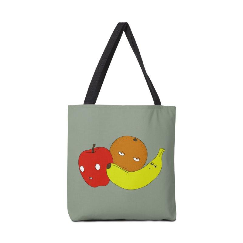 Apple Orange Banana Accessories Tote Bag Bag by KAUFYSHOP