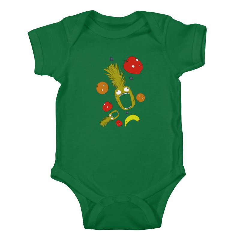 Falling Fruit Kids Baby Bodysuit by KAUFYSHOP