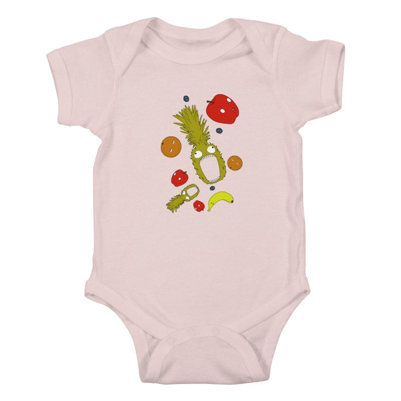Falling Fruit Kids Baby Bodysuit by KAUFYSHOP