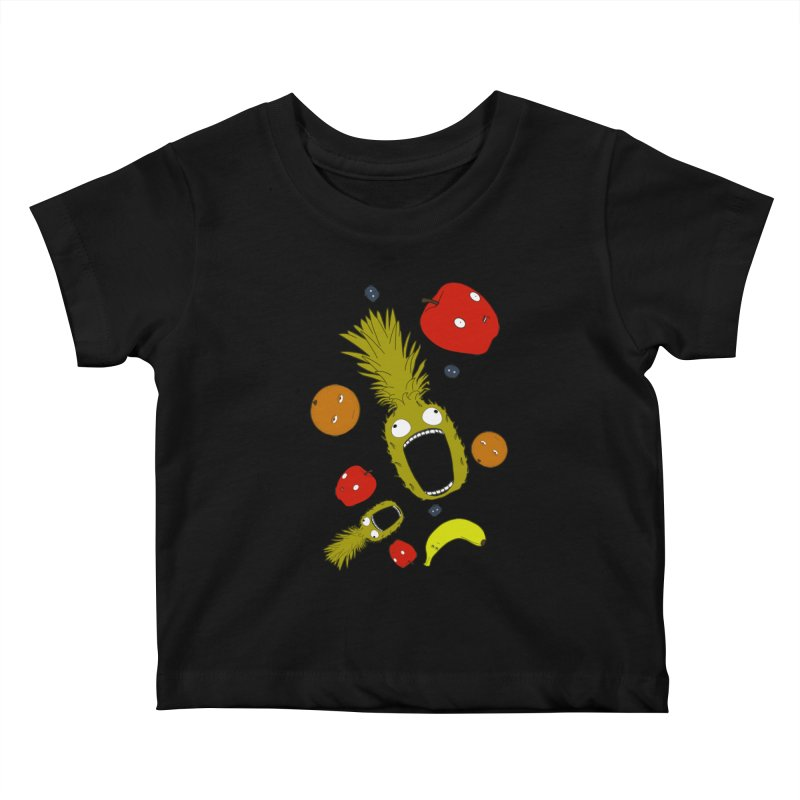 Falling Fruit Kids Baby T-Shirt by KAUFYSHOP