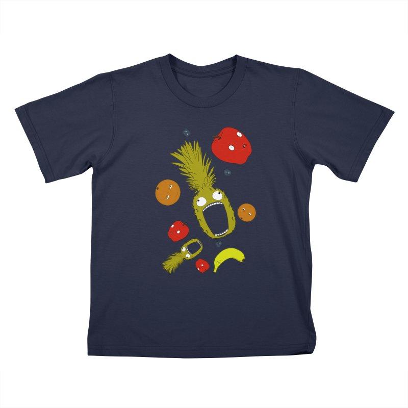 Falling Fruit Kids T-Shirt by KAUFYSHOP