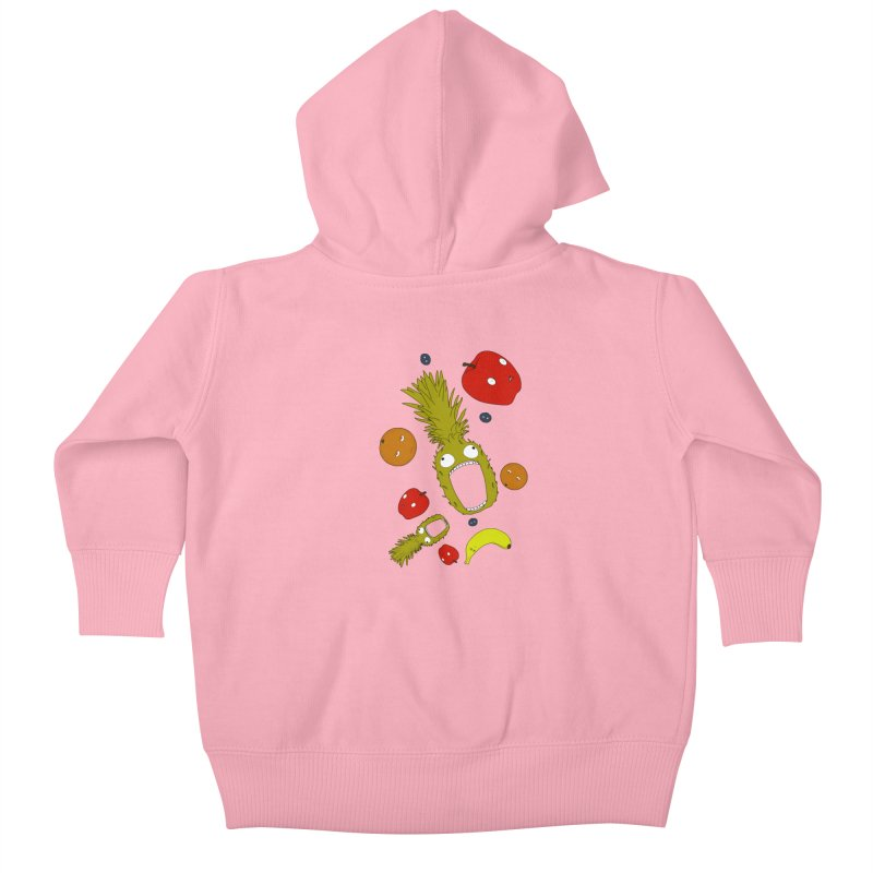 Falling Fruit Kids Baby Zip-Up Hoody by KAUFYSHOP