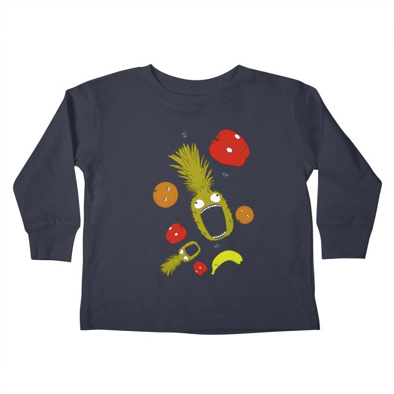Falling Fruit Kids Toddler Longsleeve T-Shirt by KAUFYSHOP
