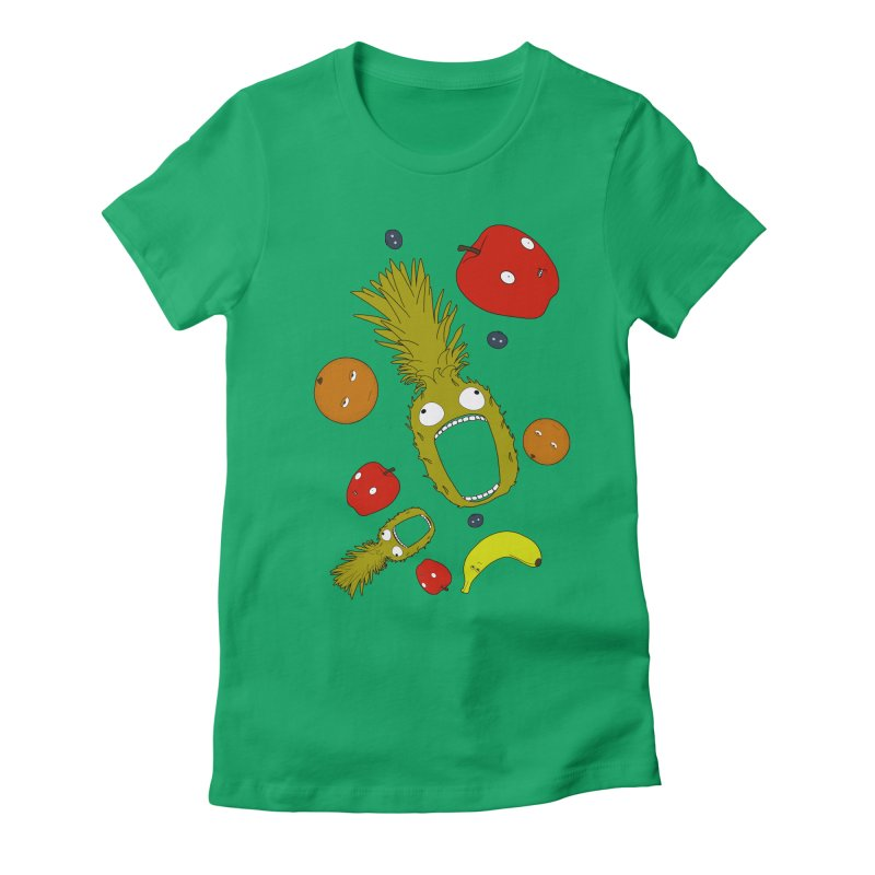 Falling Fruit Women's Fitted T-Shirt by KAUFYSHOP
