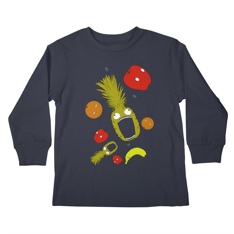 Falling Fruit Kids Longsleeve T-Shirt by KAUFYSHOP
